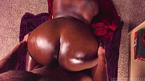 Backshots to Big Ebony Oiled Up ASS Thumbnail
