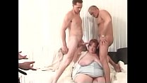 Big tits red head chick Rosa Linda gets tits li...