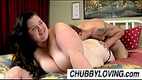 Big beautiful brunette BBW Linda loves to eat cum