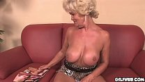 Naughty grandma reading porno magazine until sh... Thumbnail