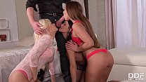 Extremely hot strip poker orgy with Aida Sweet & Candee Licious & Amirah Thumbnail