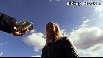 Pretty amateur blonde Eurobabe Monika banged in public Thumbnail