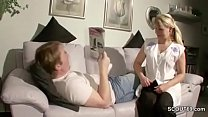 German MILF Seduce Young Man To Fuck When Alone...