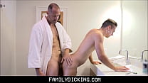 Young Stepson Needs Daddy's Help Shaving And Ge... Thumbnail