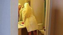 POV Blonde MILF With Big Tits Strokes Big Cock