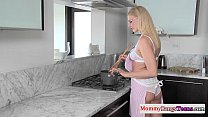 Mature stepmom Darryl Hanah gets facialized