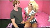 Sexy Blonde Strokes A Big Dick