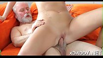 Horny old lad cheated on his wife with a new te...