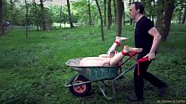 Disciplined teen slave tied and vibed is brutal... Thumbnail