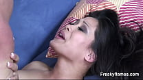 Fine amateur asia Stepsister get fucked hard in puss long after giving juicy mou