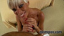 hot blonde milf fucks for facial