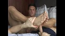 Licking feet and jerk off cocks