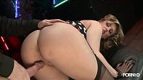 Full scene: Ashley Downs and Ian Tate at Harmon...