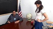 WANKZ - Tight Schoolgirl Takes Her Teacher's Hu...
