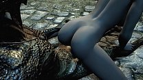 Argonian gets laid with a lonely young woman Thumbnail