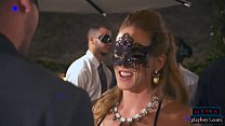 Cougar chicks horny as ever throw a masquerade ...