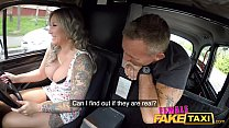 Female Fake Taxi Passenger is fascinated by her...