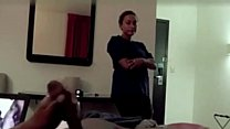 Hotel Maid Catches Him Jerking and Watches Him Cum Thumbnail