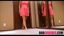 Step Dad Finds His Teen Daughter Charlotte Cross Masturbating Then Fucks Her