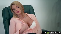 Busty lady boss Brooklyn Chase hot office fuck