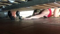 Stepmom stuck under the bed gets creampie from ... Thumbnail