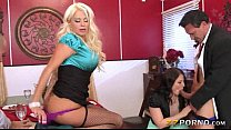 Two married couples enjoying foursome with thei... Thumbnail