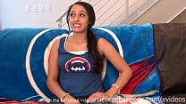 teen baseball fan first time nude on camera she...