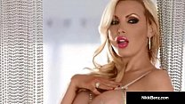 Canadian Star Nikki Benz Strips Teases & Plays ...
