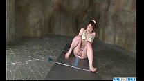 Dashing Japanese model Tomoka Sakurai plays in ...