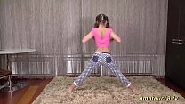 cute flexi teen stretching lesson Thumbnail