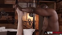 Blonde cute Kate England bounces on BBC before ...