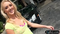 Blonde picked up on the street and banged by ho...