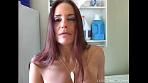 Mature brunette winking asshole
