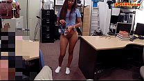 Babe with glasses pounded by pawn dude