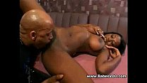 Very hot black busty with bbc