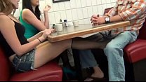 claire blows daddy in resturant