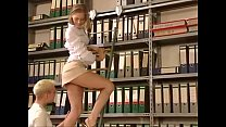 Blonde gets fucked hard in the library Thumbnail