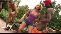 Blond skank Aleska gets double stuffed by BBC o...