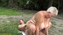 busty 69 years old bbw grannie outdoor banged Thumbnail