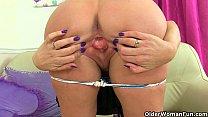 Scottish milf Toni Lace has got to rub her crav...