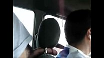 jerk off in taxi/paja en taxi. Thumbnail
