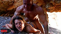 Busty french slut gets fucked hard a Muscle Man...