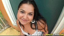 Latin chick rides and blows with utmost skills