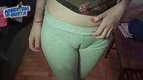 Huge Round tits! Amazing Cameltoe on a Teen Blonde