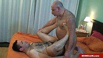 Horny daddy bear barebacking Thumbnail