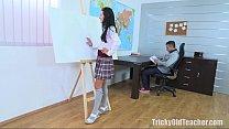 Tricky Old Teacher - Simona wanted the old teac...