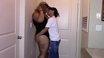First sexual encounter with sexy ebony latina bbw (interracial)