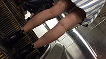 NYC Subway upskirt voyer Part 2