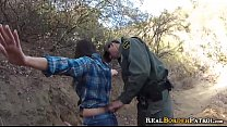 Border Gaurd Blackmails Illegal Spanish Amatuer