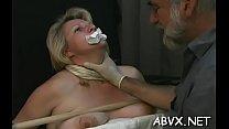 Amateur honey bawdy cleft shagged in amateur bondage scenes